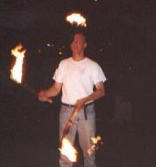 Me juggling flaming torches for fun