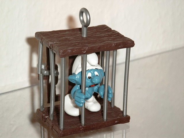 Smurf imprisoned